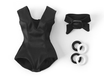 V-Neck Playsuit_Black